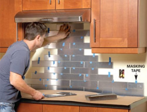 No Fuss (or grout) Tile Backsplash Project