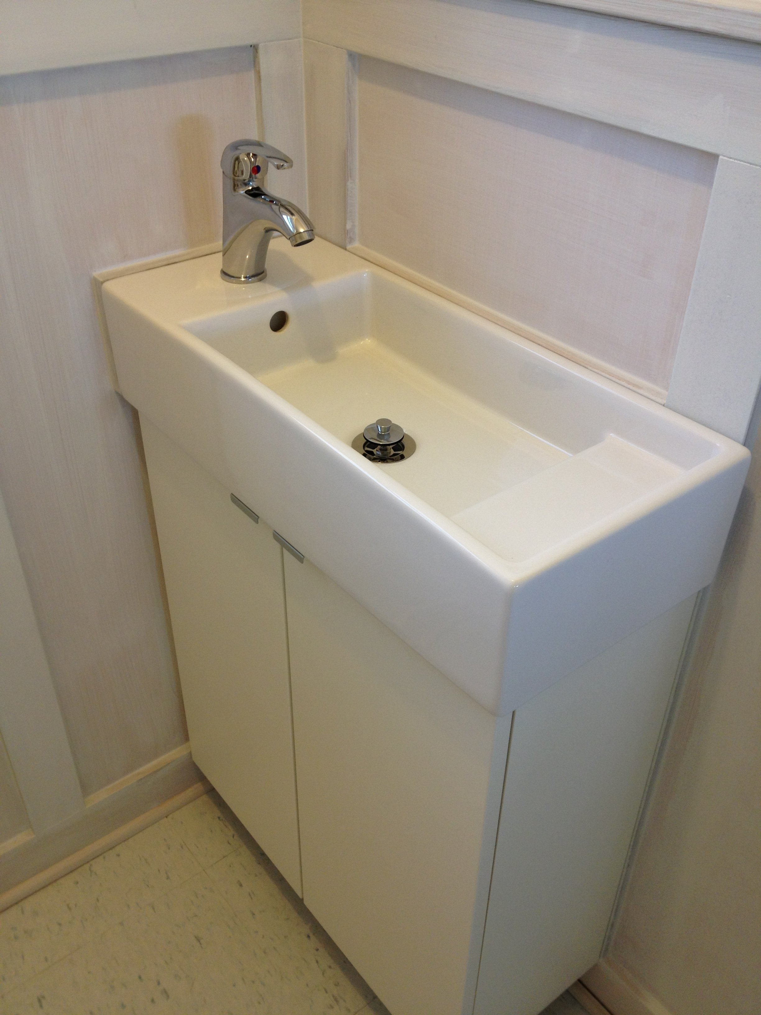 Lillangen Sink from Ikea with Krakskar faucet WNY Handyman