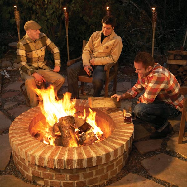 Pick from these 4 awesome fire pits wny handyman for Backyard brick fire pit