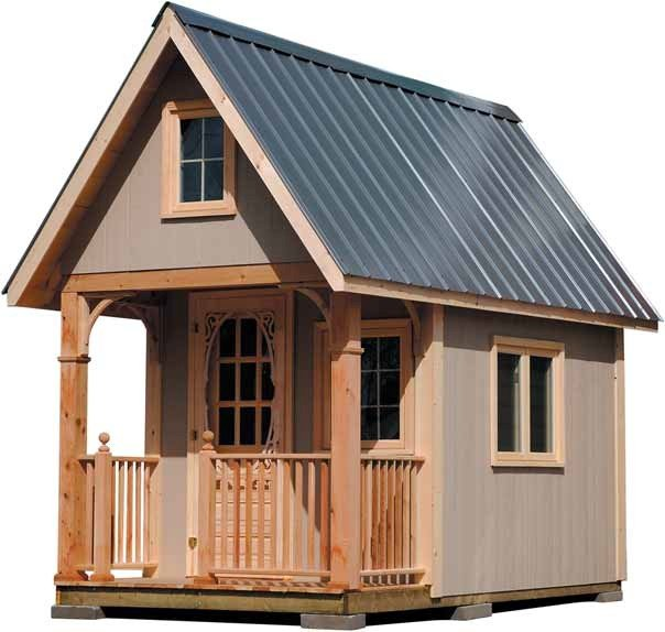 Free bunkie plans a diy sleeping shed wny handyman for Small barn plans with loft