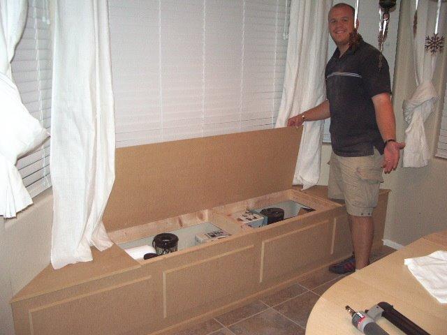 Window seat with hidden storage wny handyman