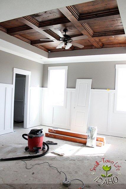 Master bedroom wood ceiling diy wny handyman Master bedroom ceiling beams