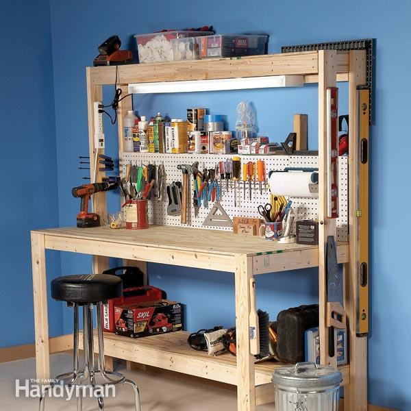 The 10 Best Garage Workbench Builds: How To Build A Workbench: Super Simple $50 Shop Bench