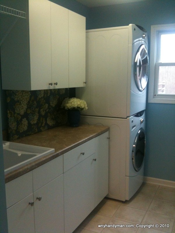 Laundry room update rta cabinets, appliances
