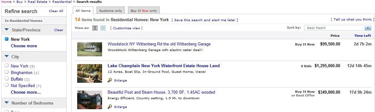 Ebay real estate