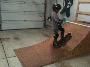 Nate's Garage Skateboard Ramp