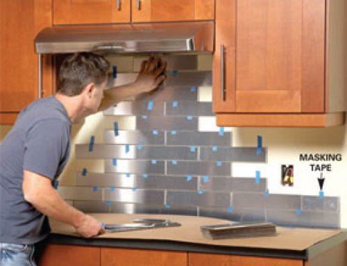 No Fuss (or grout) Tile Backsplash Project