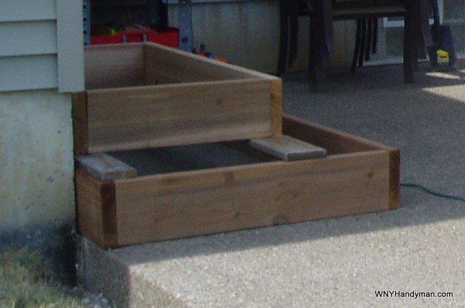 Box style steps framework