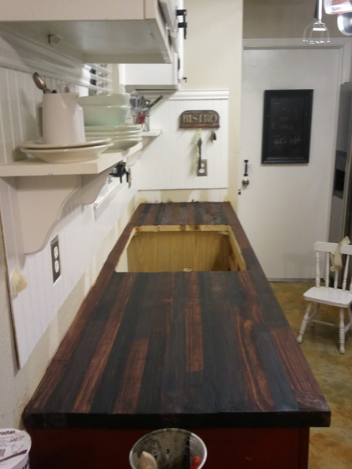cheap butcher block counter top how to