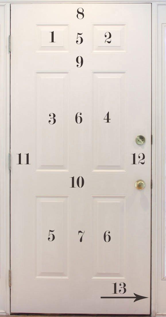 how to paint 6 panel door
