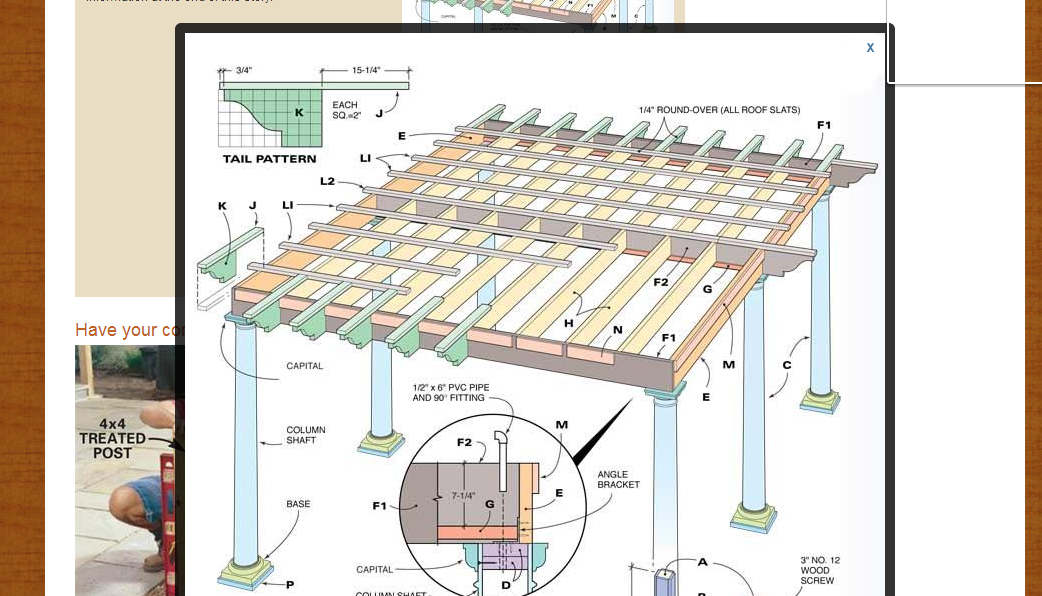 How To Build A Pergola Step By Wny Handyman