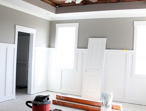 MASTER BEDROOM WOOD CEILING {DIY}