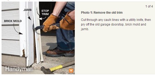 Fixing Garage Door Trim And Jamb Wny Handyman